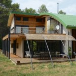 Maison à ossature bois et métal dans l'hérault
